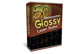 50 Glossy Photoshop Layer Styles