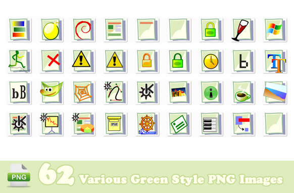 62 Various Green Style PNG Images