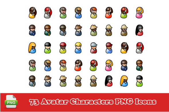 73 Avatar Characters PNG Icons