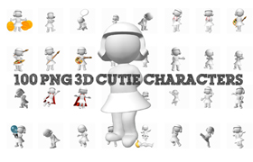 100 PNG 3D Cutie Characters