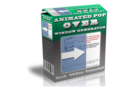 Animated Pop Over Window Generator