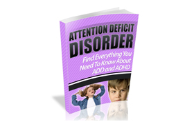 Attention Deficit Disorder WP Ebook Website Template