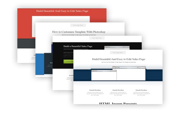 4 Modern HTML and PSD Sales Page Templates