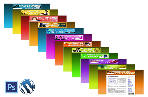 12 Niche Website Templates and WP Themes Kit