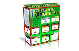 15 Complete Minisite Sets