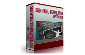 250 HTML Templates and WP Themes