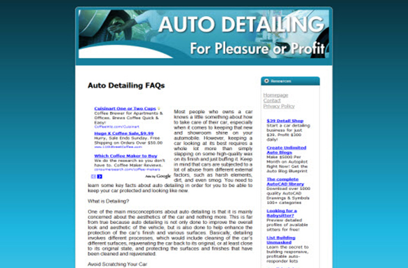 Auto Detailing Web Template and WP Theme