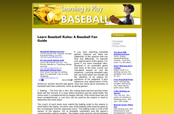 Baseball Web Template and WP Theme