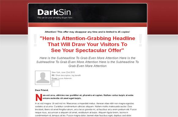 Dark Sin HTML WP PSD Salespage Template