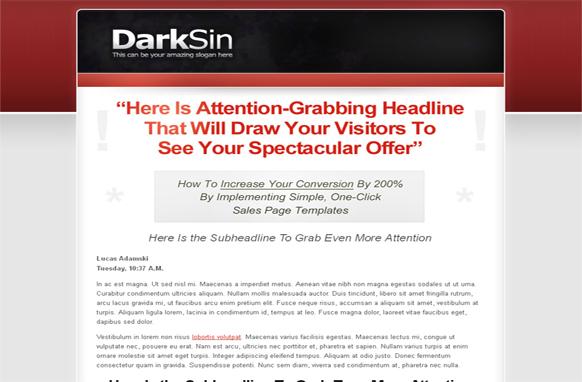 Dark Skin WP Theme