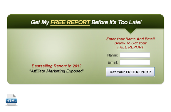 Easy HTML Code Opt In Box Edition 4
