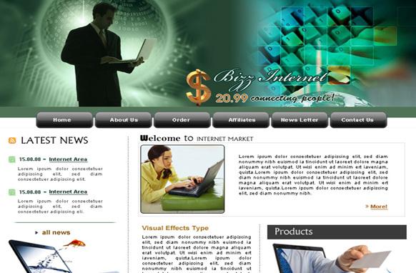 Internet Market HTML Template