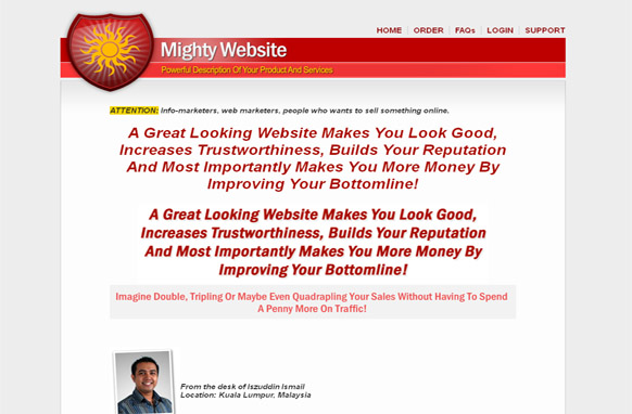 Mighty Red HTML PSD Template