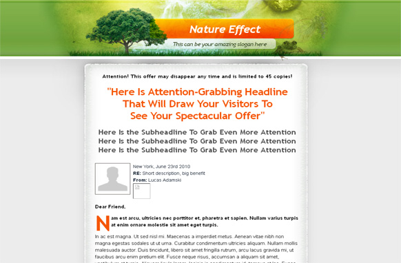 Nature Effect WP Salepage Theme