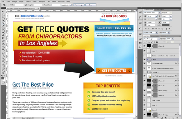 Chiropractors PSD Template Edition 2