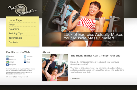 Training Connections HTML PSD Template