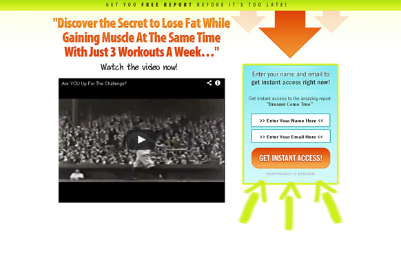Video HTML PSD Squeeze Page Edition 12