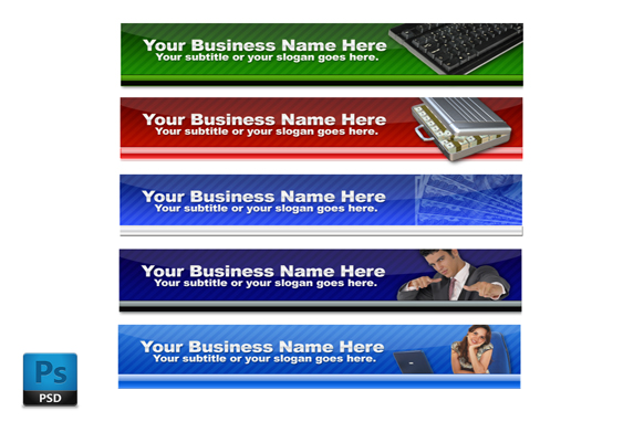 Business PSD Website Headers