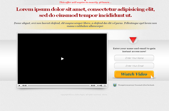 Video Page HTML Template v1