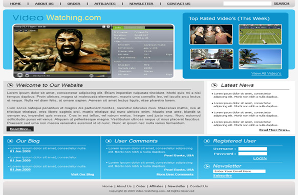 Video Watching PSD HTML Template