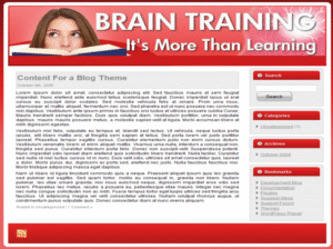 Brain Training Web Template and WP Theme