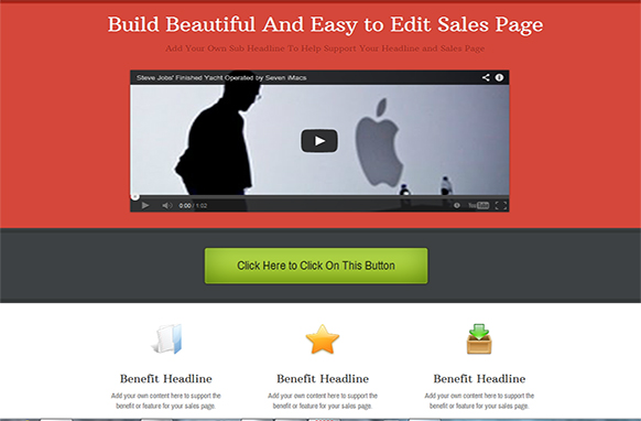 Bright Header HTML PSD Sales Page Template
