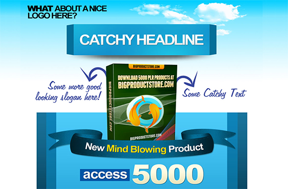 Catchy Sky HTML PSD Squeeze Page Template
