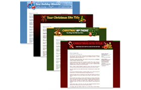 Christmas Themed Minisites and WordPress Themes Collection