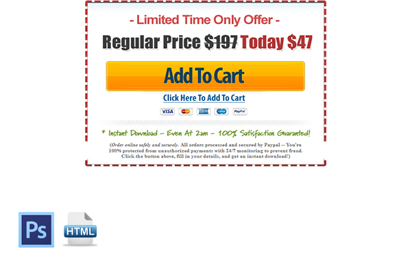 Classic Coupon Style Buy Now PSD Template