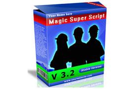 Magic Super Script PSD Theme Template