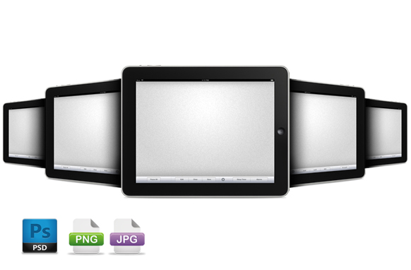 iPads Images In PSD PNG JPG Format