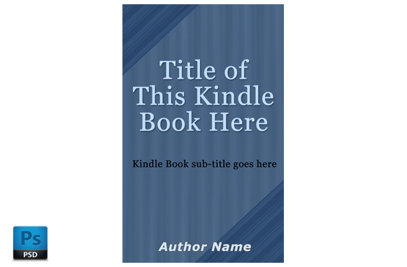 Kindle Book Cover PSD Template Edition 9