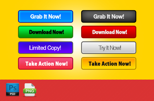 PSD PNG Web Action Buttons