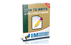 How To Write A Full Length Ebook
