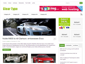 Clear Type Premium Wordpress Theme