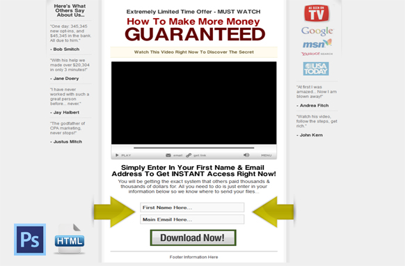 Cred Builder Video HTML PSD Squeeze Page