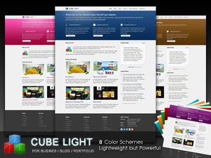 Cube Light Premium Wordpress Theme