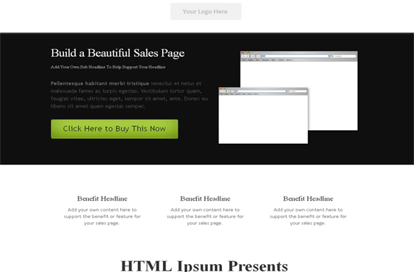 Dark Style HTML and PSD Template