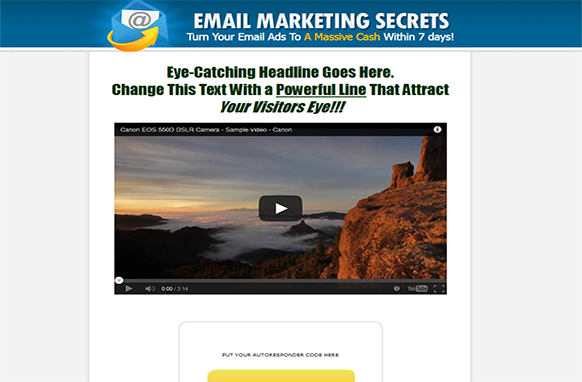 Email Marketing Secrets Video Squeeze Page Template