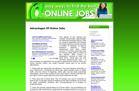 Online Jobs Web Template and WP Theme