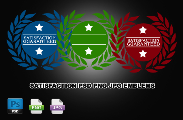 Satisfaction PSD PNG JPG Emblems