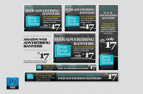 Ad Banners Grey