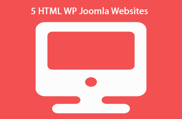 5 HTML WP Joomla Websites