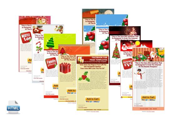 10 Christmas Facebook Fanpage HTML PSD Templates