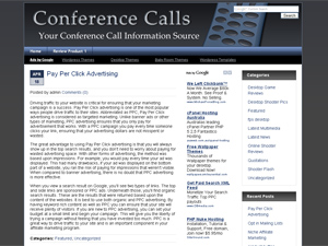 Conference Call WP Theme