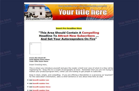 HTML PSD Squeeze Page Edition 10