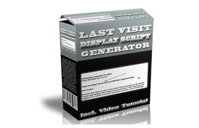 Last Visit Display Script Generator