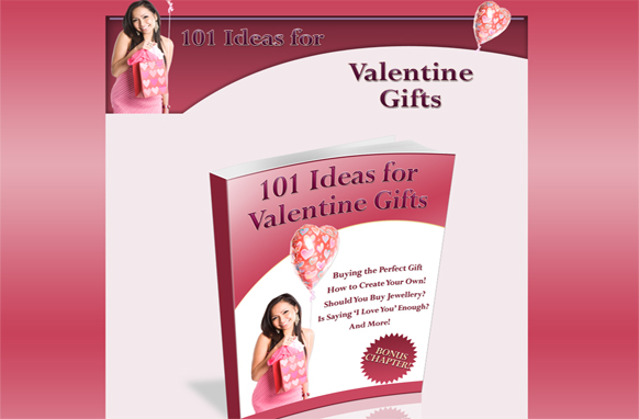 101 Ideas For Valentine Gifts Minisite HTML PSD Template