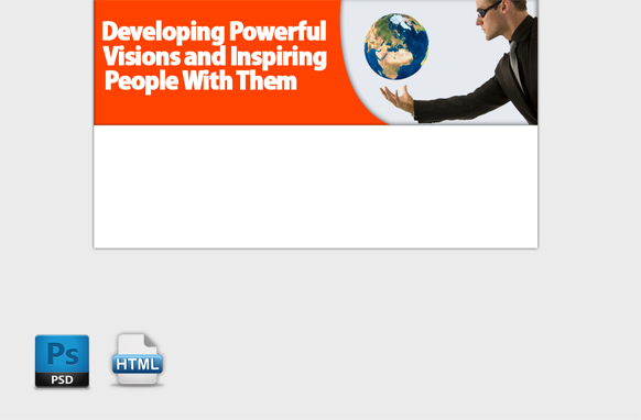 Develop Powerful Vision HTML PSD Template