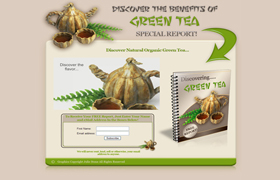 Discovering Green Tea Video Squeeze Page